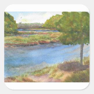 Adesivo Quadrado rio do squamscott newfields no 31 de julho de 2015