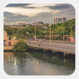 Adesivo Quadrado Rio Guayaquil Equador de Estero Salado