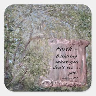 Adesivo Quadrado Rolo da fé