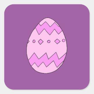 Adesivo Quadrado Rosa do ovo da páscoa