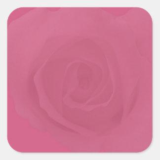 Adesivo Quadrado Rosas cor-de-rosa