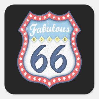Adesivo Quadrado Rt fabuloso. 66