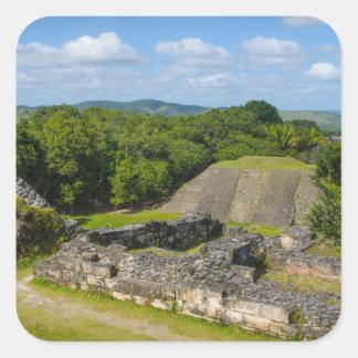 Adesivo Quadrado Ruína maia de Xunantunich em Belize