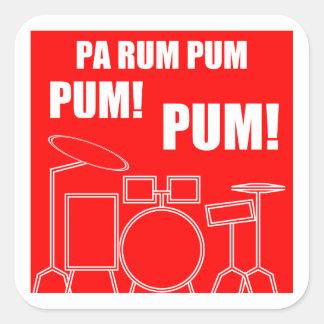 Adesivo Quadrado Rum Pum Pum Pum do Pa