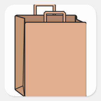 Adesivo Quadrado Saco de papel