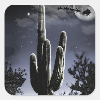 Adesivo Quadrado Saguaro armado do deserto 5 no luar