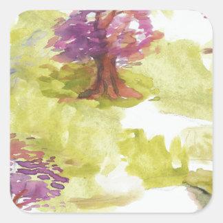 Adesivo Quadrado sakura