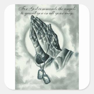 Adesivo Quadrado Salmo 91