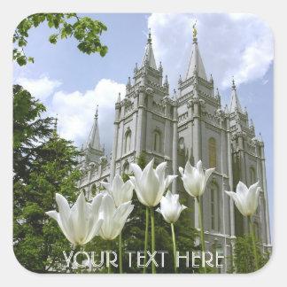 Adesivo Quadrado Salt Lake Sity, templo de LDS
