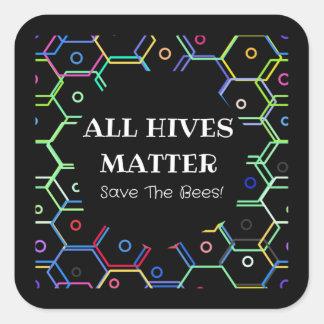 Adesivo Quadrado Salvar as abelhas - toda a matéria das colmeia