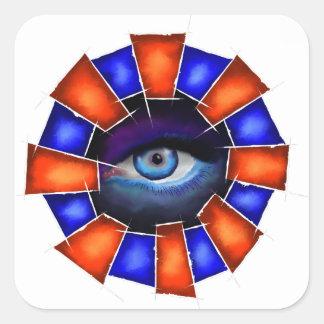 Adesivo Quadrado Salvenitus - olho de observação