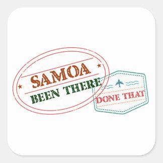 Adesivo Quadrado Samoa feito lá isso
