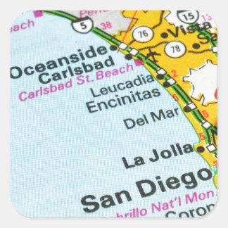 Adesivo Quadrado San Diego, Califórnia