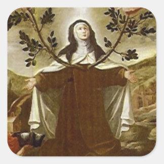 Adesivo Quadrado Santo Teresa da freira carmelita de Avila