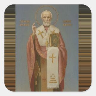 Adesivo Quadrado São Nicolau do Bishop de Myra