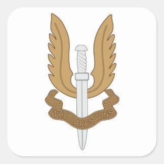Adesivo Quadrado SAS britânico