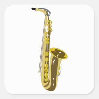 Adesivo Quadrado Saxofone