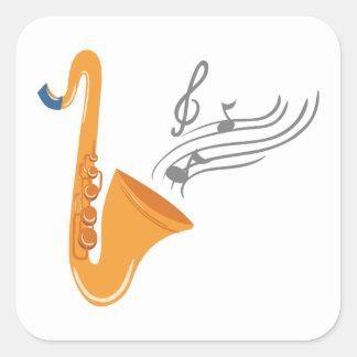 Adesivo Quadrado Saxofone do saxofone de Saxophon