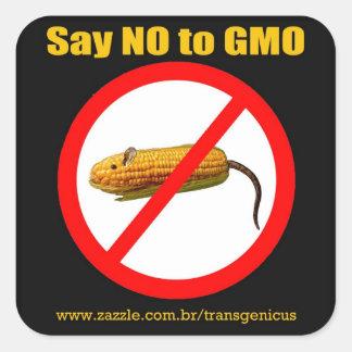 """Adesivo Quadrado Say NO GMO Stiker 3""""x3"""""""