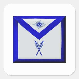 Adesivo Quadrado Secretário maçónico Avental