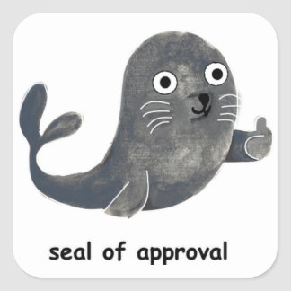 Adesivo Quadrado Selo de aprovação