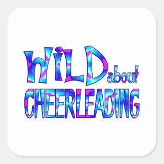 Adesivo Quadrado Selvagem sobre Cheerleading