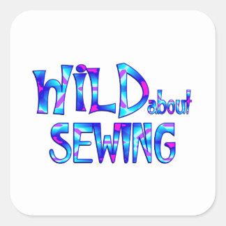 Adesivo Quadrado Selvagem sobre Sewing