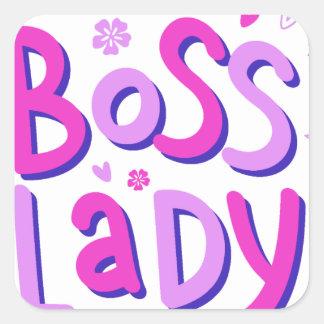 Adesivo Quadrado Senhora do chefe