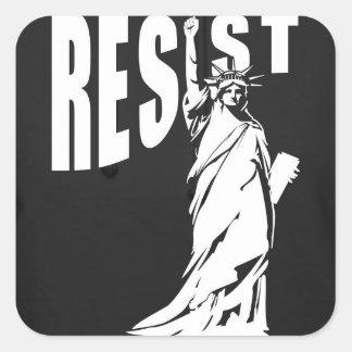 Adesivo Quadrado senhora-liberdade-resista