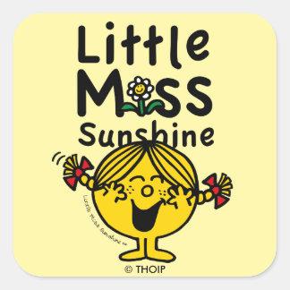 Adesivo Quadrado Senhorita pequena pequena Luz do sol Riso da