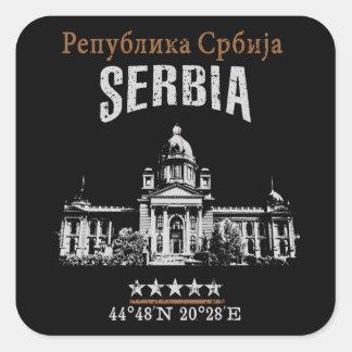 Adesivo Quadrado Serbia