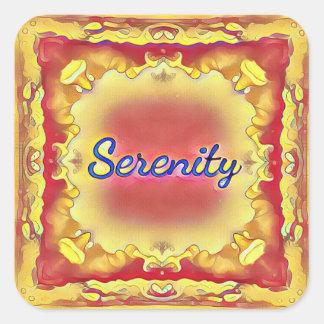 Adesivo Quadrado Serenidade quadro inspirada do amarelo vibrante do