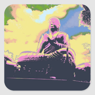Adesivo Quadrado Série de Dharma Buddha