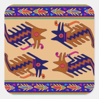 Adesivo Quadrado Serpente tribal do Inca