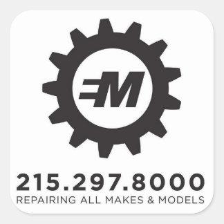 Adesivo Quadrado Serviços europeus do motor, decalque do LLC