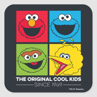 Adesivo Quadrado Sesame Street | os miúdos legal originais