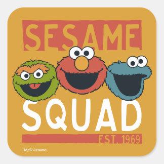 Adesivo Quadrado Sesame Street - pelotão do sésamo