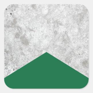 Adesivo Quadrado Seta concreta Forest Green #326