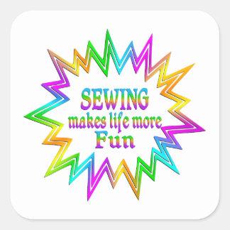 Adesivo Quadrado Sewing mais divertimento