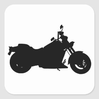 Adesivo Quadrado Silhueta da motocicleta