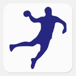 Adesivo Quadrado Silhueta do handball