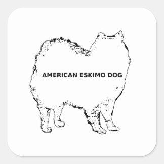 Adesivo Quadrado Silo conhecido branco Eskimo americano