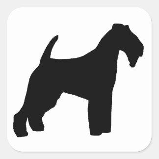 Adesivo Quadrado Silo de galês Terrier