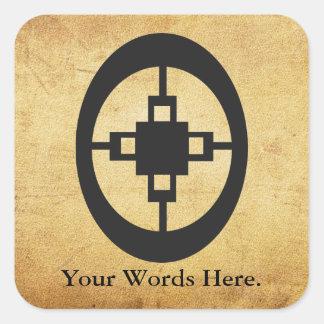 Adesivo Quadrado Símbolo da dama dama | para a inteligência e a