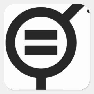 Adesivo Quadrado Símbolo da igualdade de género