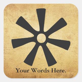 Adesivo Quadrado Símbolo de ANANSE NTONTAN | da sabedoria,