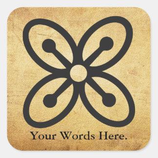 Adesivo Quadrado Símbolo de BESE SAKA | da afluência, poder,