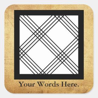 Adesivo Quadrado Símbolo de NKYIMU   do Skillfulness, precisão
