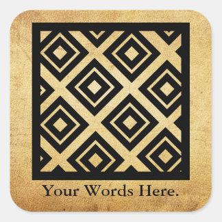 Adesivo Quadrado Símbolo do Bere | do Ani da aplicação e da