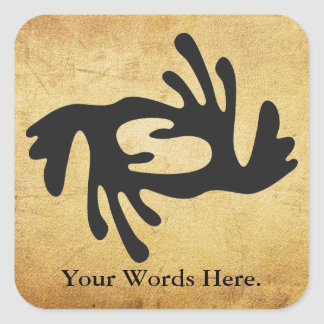 Adesivo Quadrado Símbolo do BI | do BI NKA da harmonia, paz,